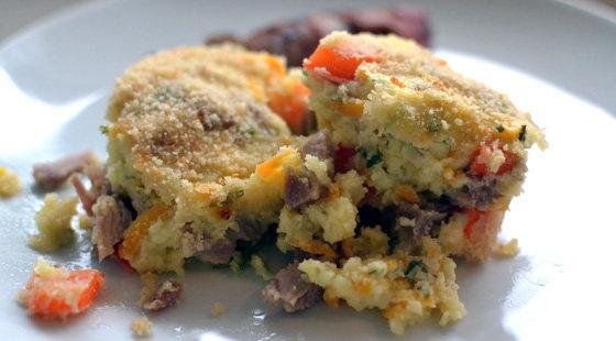 Bagt Kartoffelmos Med Æg opskrift på bagt kartoffelmos med hamburgerryg-rester - sådan laver