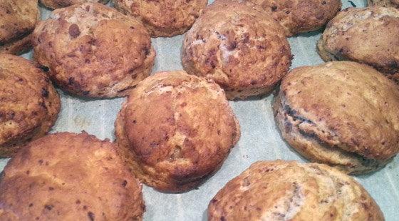 Færdige amerikanske scones